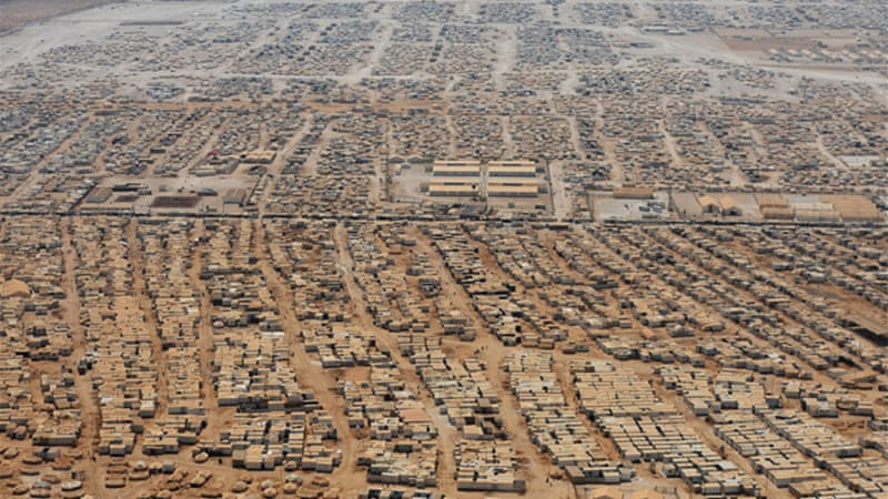 Organised crime networks are operating in Zaatari camp in Jordan, which is home to 130,000 refugees [AP]
