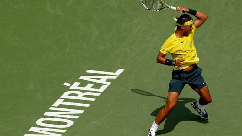 Nadal, a two-time Rogers Cup winner, was playing for the first time since a first-round loss at Wimbledon [AFP]