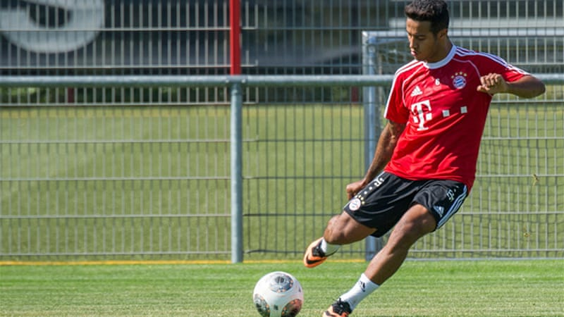 The signing of Barcelona's Spain Under-21 captain Thiago Alcantara has given Guardiola plenty of options. [EPA]