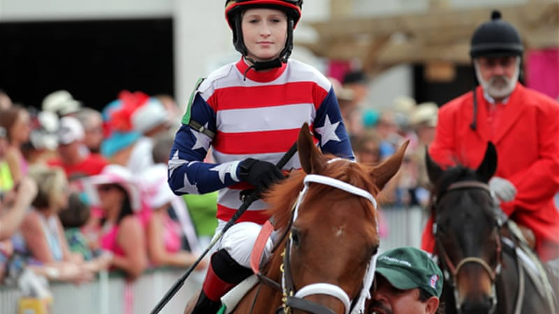 Napravnik became the first woman to ride in all three Triple Crown races this year [GETTY]