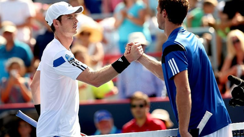 Defeat at the hands of Ernests Gulbis ended Murray's winning streak at 13 matches [AFP]