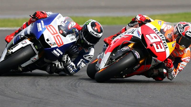 Lorenzo triumphed at the British Grand Prix at Silverstone two weeks ago, holding off leader Marquez [AFP]