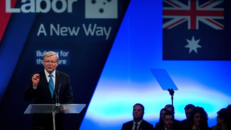 Prime Minister Rudd has called climate change 'the greatest moral, economic and social challenge of our time' [AFP]
