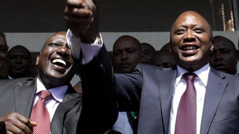 Kenyatta, right, and Ruto face charges of crime against humanity related to 2007 post-poll violence [Reuters]