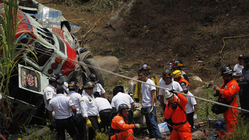 Investigators do not yet know what caused the crash or what was the final destination of the bus [Reuters]