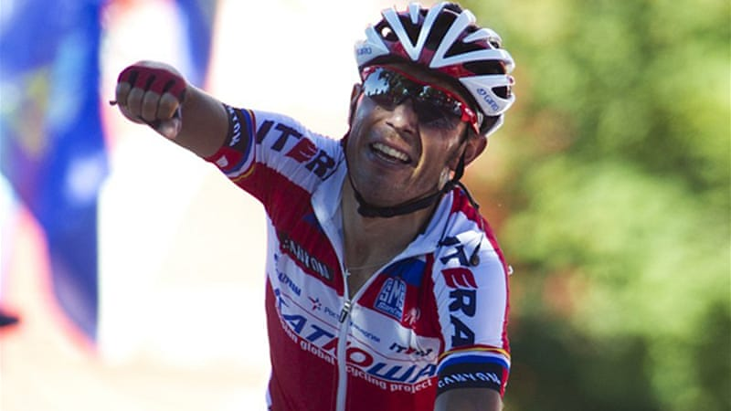 Rodriguez secured his first stage victory with a winning time of more than four hours [AFP]