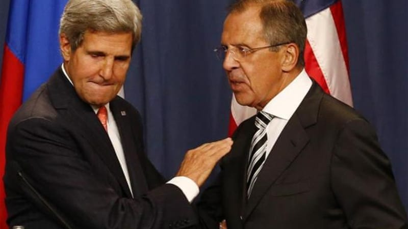 Lavrov spoke with US Secretary of State John Kerry about Syria on Sunday [Reuters]