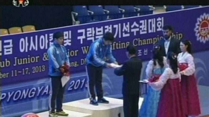 Kim Woo-sik and Lee Young-gyun finished first and second in the Interclub Junior Men's 85kg category [Reuters]