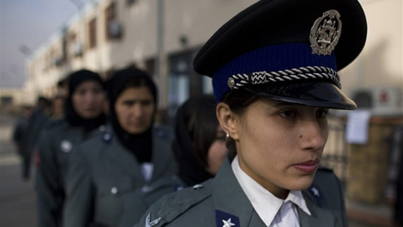 Women serving in the police force often get threats from relatives as well as Taliban members [AP]