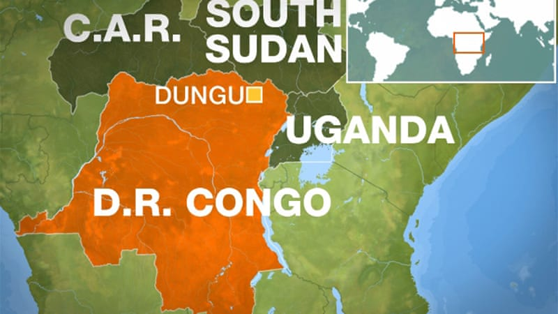 Dungu sits in the Orientale province, between the Central African Republic, South Sudan and Uganda [Al Jazeera]
