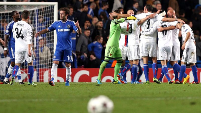 Chelsea suffered a shock home defeat to Basel in Wednesday's Champions League opener [AFP]