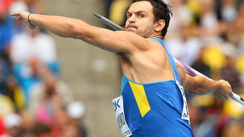 Ukrainian Roman Avramenko who finished fifth in the men's javelin was one of the athletes named by the IAAF [GETTY]