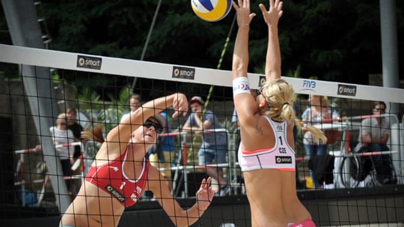 Some nations have demanded that all women cover up for certain events, including volleyball [EPA]