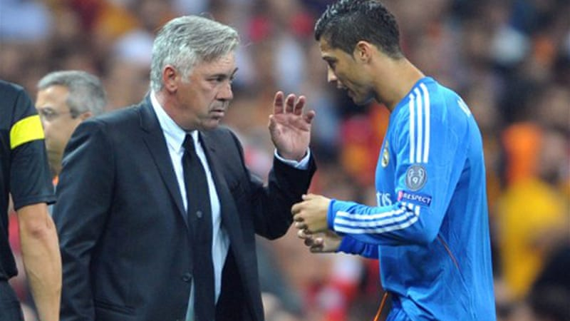 Ancelotti praised Ronaldo's professionalism in the wake of his mid-week hat-trick against Galatasaray [AFP]