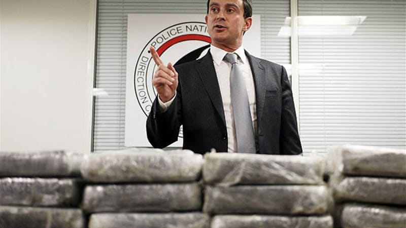 Valls said four tonnes of cocaine has been seized in the country since the start of the year [AFP]