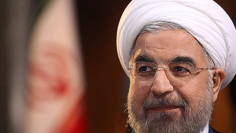 Iran's President Rouhani has urged recognition of Iran's  right to enrich uranium within its own territory[Reuters]