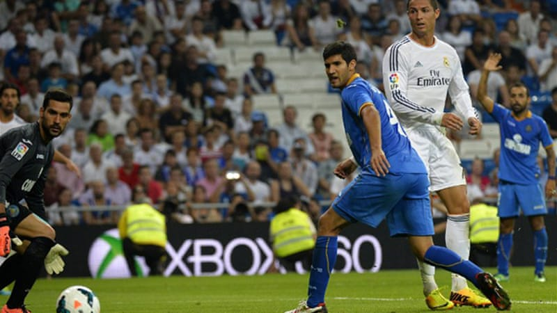 Ronaldo proved to be the playmaker in Real's 4-1 comeback win over Getafe [AFP]