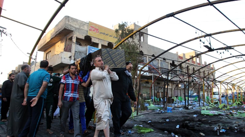 Iraq has witnessed a surge in bombings in recent weeks pushing the monthly death toll to over 500 [AFP]