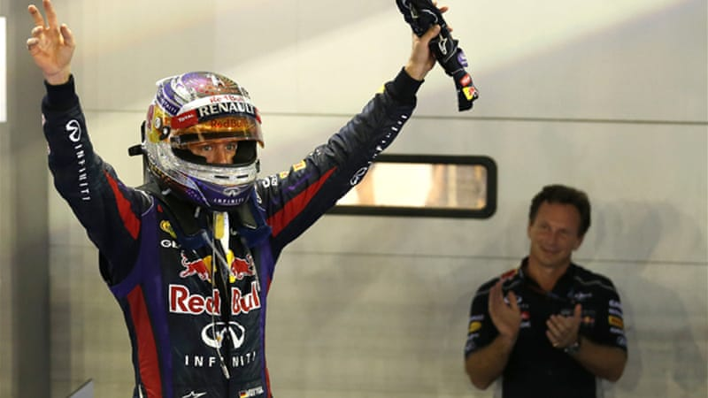 Red Bull boss Horner, right, slammed the disgruntled fans at the Marina Bay Street circuit [EPA]