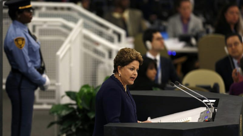 Rousseff's own communications were intercepted, though the US insists it does not examine their content [Reuters]