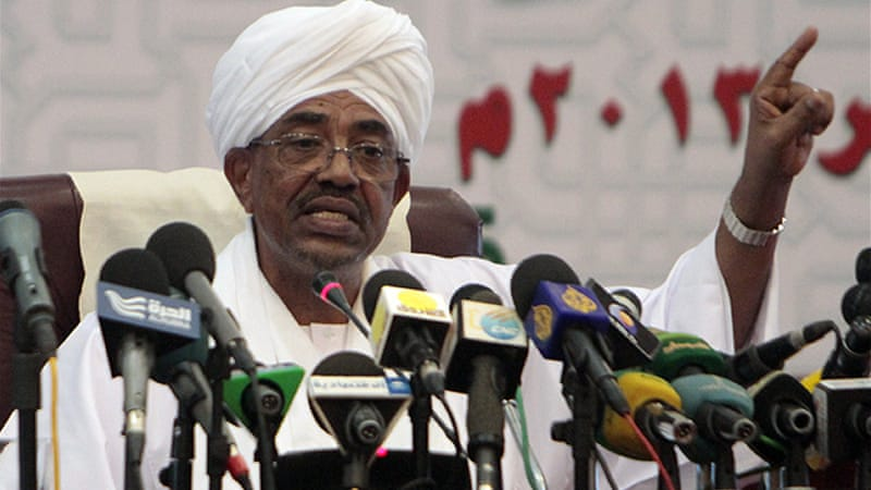 "Bashir has previously spoken of ""conspiracies"" linked to the demonstrations [AFP]"