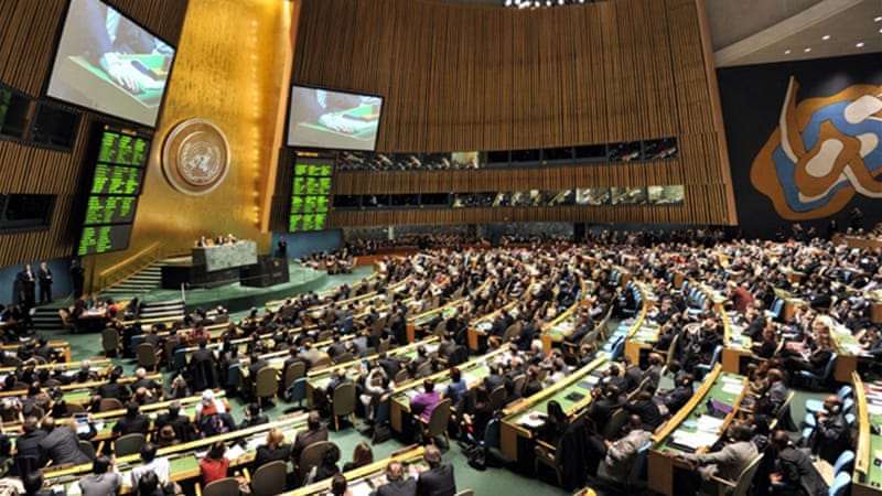 The UN adopted the treaty on April 2 with 154 countries, including the US, voting in favour [AFP]