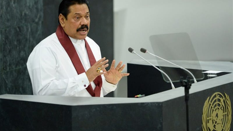 The UN accused Sri Lanka of drifting towards an authoritarian system under President Mahinda Rajapaksa [AFP]