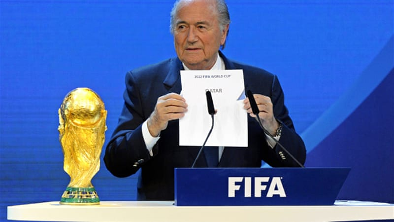 FIFA's decision to award the 2022 World Cup to Qatar has caused controversy,  particularly over timing [EPA]