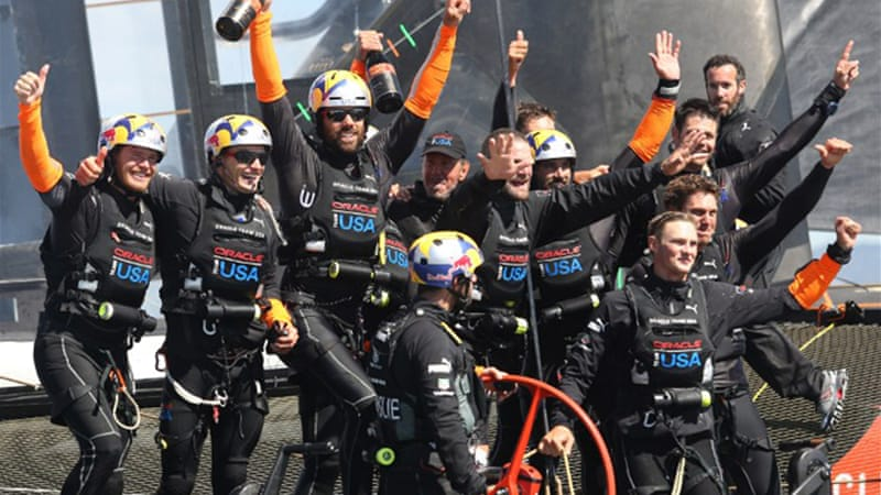 Team New Zealand were beaten by Oracle Team USA in the winner-take-all showdown in San Francisco [AFP]
