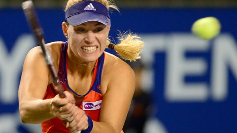 Fifth-seed Kerber defeated Caroline Wozniacki 6-4, 7-6 (5) in the day's other semi-final [AFP]