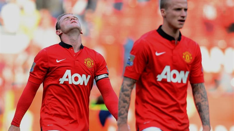 United suffered more misery when they went down 2-1 at home to West Bromwich Albion [AFP]