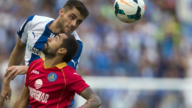 The win marked Getafe's third in four matches, while Espanyol have lost two straight games [EPA]