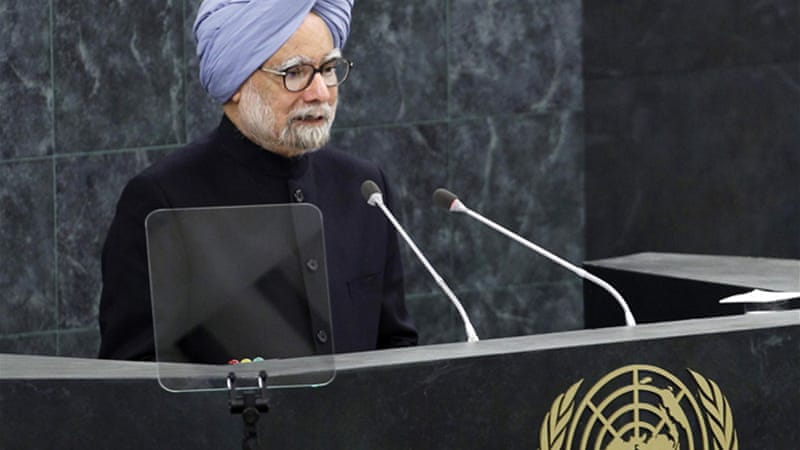 "Singh said he supported resolving questions over Kashmir, but that the territory is ""an integral part of India"" [Reuters]"