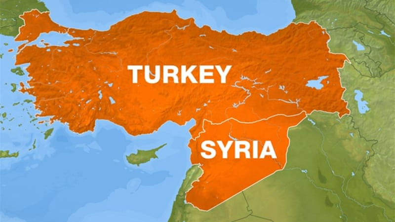 Syrian Warplane Crashes Near Turkish Border News Al Jazeera - Map of syria and turkey
