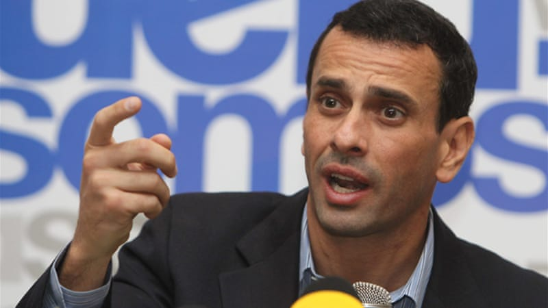 "Opposition leader Henrique Capriles dismissed the expulsions as ""joke alerts"" by Maduro [EPA]"
