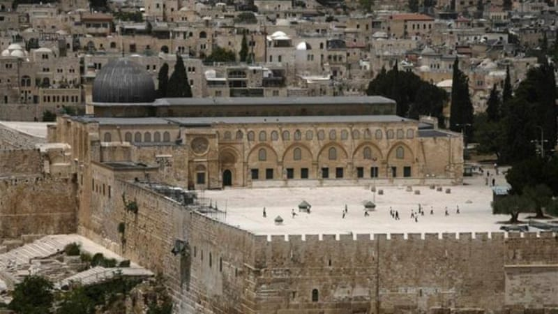 Mosque Aqsa Surrounded The Al-aqsa Mosque is Located