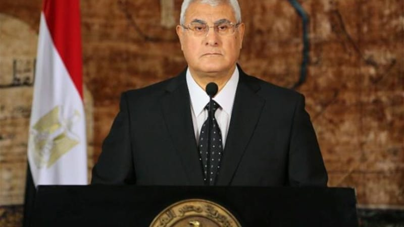 Interim President Adly Mansour extended the emergency on Wednesday for two more months