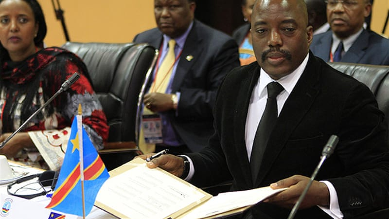 Congolese President Joseph Kabila and his Rwandan counterpart Paul Kagame held face-to-face meetings [Reuters]