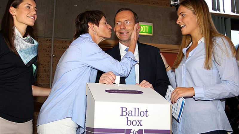 "Abbott, whose family has often been by his side in the campaign, called his daughters his ""best asset"" [Getty Images]"
