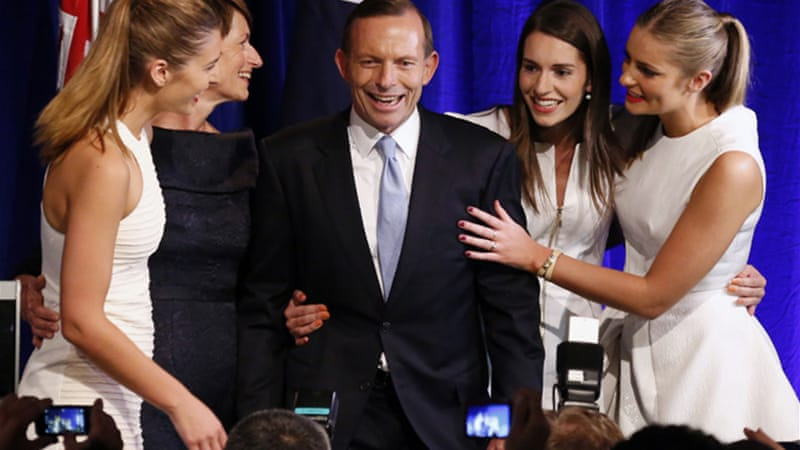 Australia's conservative leader Tony Abbott swept into office in a landslide election [Reuters]