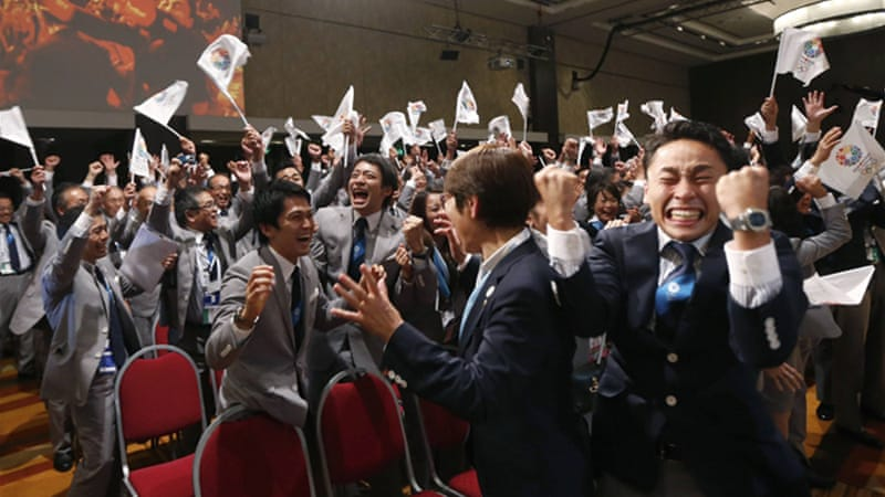 Asian tiger: Japan celebrates winning hosting duties for the 2020 Olympics [Reuters]