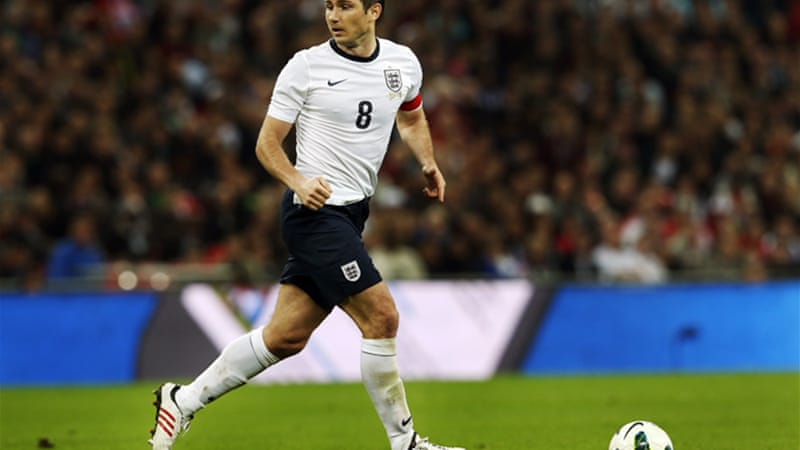 Lampard will win his 100th cap in Tuesday's qualifier against Ukraine [EPA]