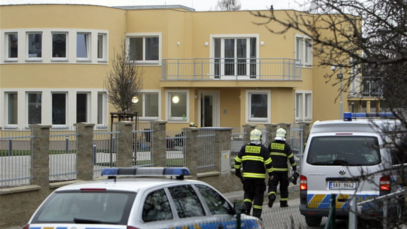There were no visible signs of damage to the diplomat's Prague residence on Wednesday [Reuters]