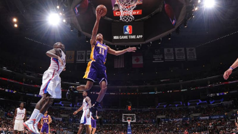 Wesley Johnson scores a dunk against the Clippers [AFP]