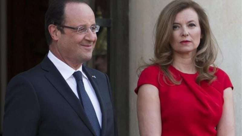 Trierweiler, right, was not married to Hollande but they had been together since 2006 [EPA]