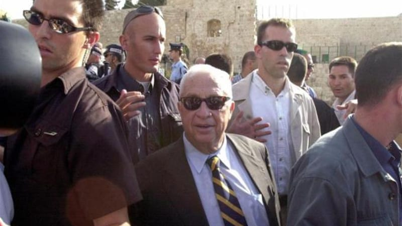 Ariel Sharon's visit to the al-Aqsa mosque prompted the second intifada [AP]
