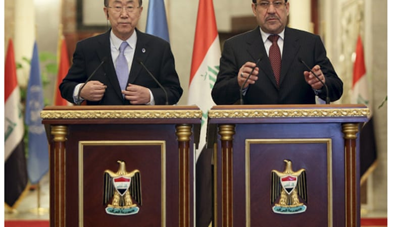 Maliki disagreed with Ban's statement on Anbar [Reuters]