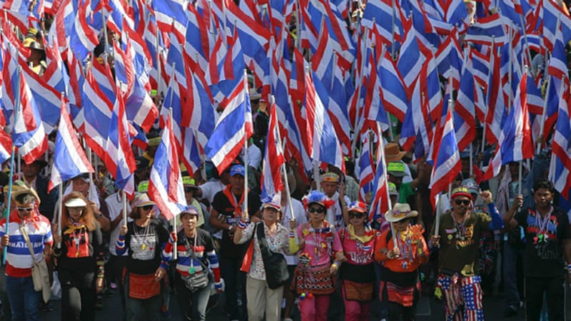 Protesters have occupied several government buildings in the capital, Bangkok [Reuters]