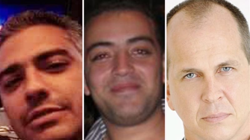 Fahmy, Mohamed and Greste were taken into custody on December 29 [Al Jazeera]