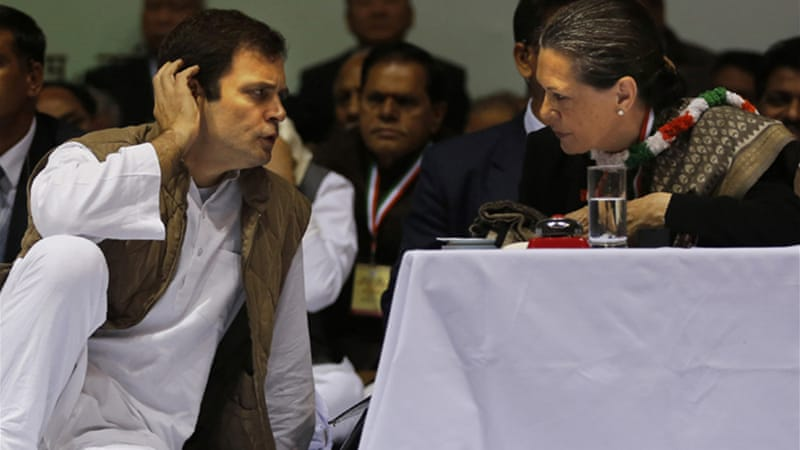 Rahul Gandhi is the vice-president of the Congress that is led by his mother Sonia [AP]
